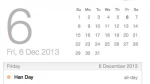 Han Day December